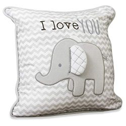 Wendy Bellissimo Super Soft Square Decorative Pillow + Throw Pillow Nursery Décor – Elepha ...