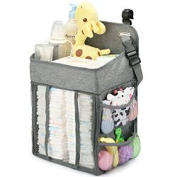 Changing Table Diaper Organizer – Baby Hanging Diaper Stacker Nursery Caddy Organizer for  ...