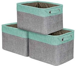 Sorbus Storage Large Basket Set [3-Pack] – 15 L x 10 W x 9 H – Big Rectangular Fabri ...