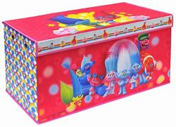 Trolls Folding Soft Storage Bench, Perfect Toy Box or Chest for Playrooms, Officially Licensed P ...