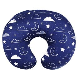 Minky Nursing Pillow Cover/Nursing Pillow Slipcover Soft Fits Snug On Infant Nursing Breast Feed ...