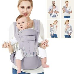 360 Baby Carrier with Hip Seat, 9 Ergonomic & Safe Positions for Newborns Infants & Todd ...
