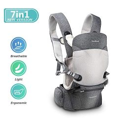 MADENAL 360º Ergonomic Baby Carrier with Hip Seat, [7 Positions for All Seasons], [for 3 – 36 Mo ...