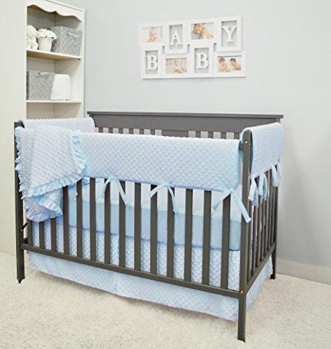 American Baby Company Heavenly Soft 6 Piece Crib Rail Bedding Set, Blue