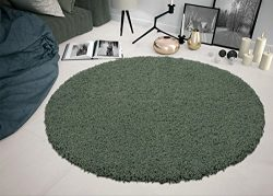 Sweethome Stores COZY6506-ROUND Shaggy Rug 5'3″ Round Seafoam