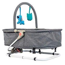 Baby Bassinet & Bouncer (Grey)