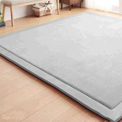 Baby Play Mat, Soft Play Rugs for Boys Girls Infant Baby Toddler Nursery, Thick Grey Rug for Liv ...