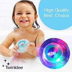 Bath LED Toy Safe Fun Bubble Bath Calming Relaxing Waterproof Diving Swimming Pool Rainbow Color ...
