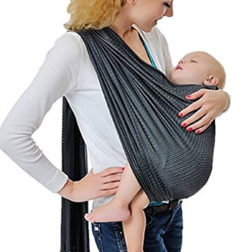 Cuby Breathable Baby Carrier Mesh Fabric, Ideal for Summers/Beachhe Adjustable Ring Sling Baby C ...