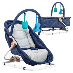 Baby Bassinet & Bouncer (Blue)
