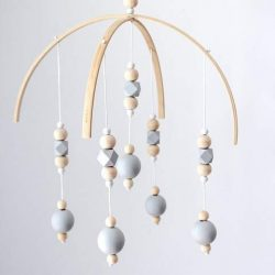 fairy maker Baby Mobile Crafted with Wooden Beads,Lovely Nursery Decoration