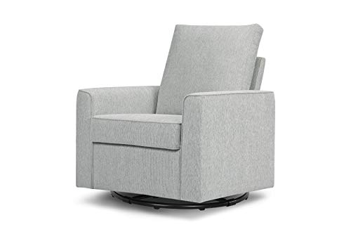 Million Dollar Baby Classic Alden Swivel Glider, Light Grey Weave
