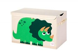 3 Sprouts Kids Toy Chest, Large Storage for Boys and Girls Room, Dino