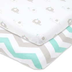 Baby Cradle Sheets Fitted 18x36x2 – Easily Fits on Arms Reach Co Sleeper Cambria, Clear Vu ...