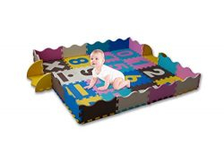 KAYBABY New Extra Thick Baby Play Mat with Fence for Babies, Toddlers, Kids Non Toxic Large Craw ...