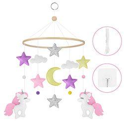 Baby Crib Mobile Unicorn, Handmade Baby Mobile Starry Woodland Nursery Decoration Crib Mobile fo ...