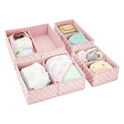 mDesign Soft Fabric Dresser Drawer and Closet Storage Organizer for Child/Kids Room, Nursery &#8 ...