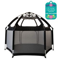 Baby Playpen, Exqline Portable Safety Kids Playpen for Infants and Babies, Foldable and Compact  ...