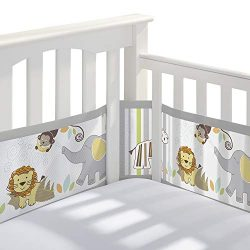 BreathableBaby Classic Breathable Mesh Crib Liner – Safari Fun Too