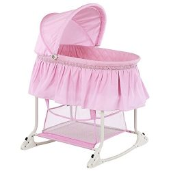 Dream On Me Willow Bassinet, Pink
