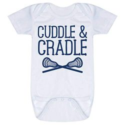Lacrosse Baby & Infant Onesie | Cuddle & Cradle | Navy | One Piece Newborn