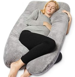 QUEEN ROSE Pregnancy Pillow – Full Body U Shaped Maternity Pillow,Support Back/Neck/Head w ...