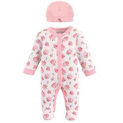 Luvable Friends Baby Preemie Sleep N Play & Cap, Floral