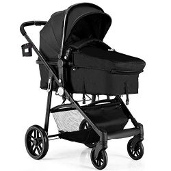 BABY JOY Baby Stroller, 2 in 1 Convertible Carriage Bassinet to Stroller, Pushchair with Foot Co ...