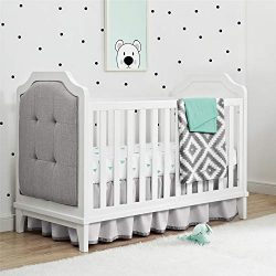 Baby Relax Baby Relax Cricket 3-in-1 Upholstered Crib, White, White
