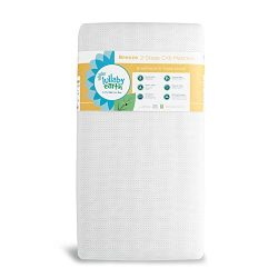 LULLABY EARTH Breeze 2-Stage Crib Mattress | 100% Breathable Surface, Removable Washable Protect ...