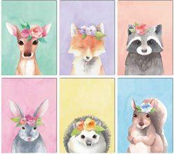 L & O Goods Woodland Animals Nursery Décor | Baby Boy & Girl Wall Art Watercolor Prints  ...