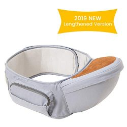 Wemk Baby Hip Seat Carrier, Ergonomic Toodler Waist Seat, Lengthen Belt up to 53″(135 cm), ...