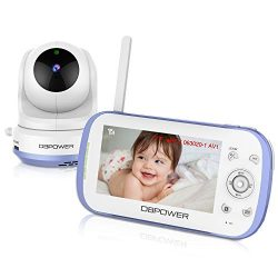 Upgrade DBPOWER Long Range Two Way Talk Video Baby Monitor with 4.3″ LCD Screen, Support M ...