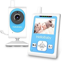 Baby Monitor with Video Recording Camera &Motion Detection Alarm, Night Vision, Two-Way Talk ...