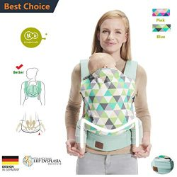 Kinderkraft Baby Carrier Cotton for All Seasons, Comfortable Breathable Adjustable and Ergonomic ...