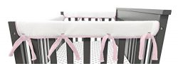 American Baby Company 2 Pack Heavenly Soft Chenille Reversible Crib Rail Cover for Side Rails, P ...