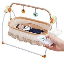 WBPINE Baby Cradle Swing, Automatic Baby Bassinets Swing Crib for Baby Boy and Girl with Music ( ...
