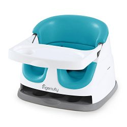 Ingenuity Baby Base 2-in-1 Seat – Peacock Blue – Booster Feeding Seat