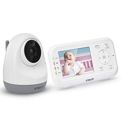"""VTech VM3261 2.8"""" Digital Video Baby Monitor with Pan & Tilt Camera, Full Color and Automati ..."""
