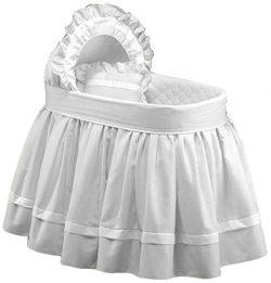 Baby Doll Bedding Regal Pique Bassinet Bedding, White