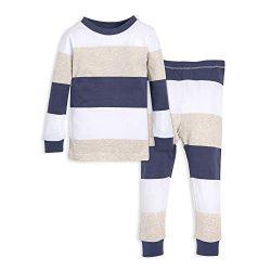 Burt's Bees Baby Unisex Baby Pajamas, Tee and Pant 2-Piece PJ Set, 100% Organic Cotton, Bl ...