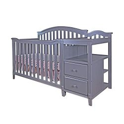 AFG Kali 4-in-1 Crib with Changer, Grey