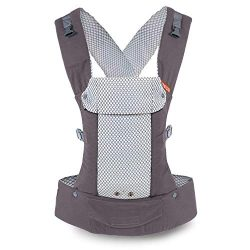 Gemini Performance Baby Carrier by Beco – (Cool Mesh Grey – Multi-Position Soft Stru ...