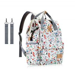 Diaper Bag Backpack,IHONEY Waterproof Cute Design Baby Nappy Backpack for Boys and Girls with In ...