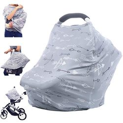 Breastfeeding Nursing Cover Carseat Canopy – Multi Use Car Seat Covers for Babies, Infant  ...