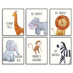 Safari Baby Animals, Nursery Wall Art Decor, Art Prints, Playroom Wall Decorations, Boys & G ...