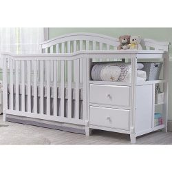 Sorelle Berkley 4 in 1 Crib and Changer, White