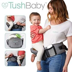 TushBaby The Only Safety Certified Hip Seat Baby Carrier – As Seen On Shark Tank – A ...