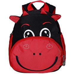 Small Cow Toddler Backpack Safety Harness Kids Nursery with Chest Strap Bookbag