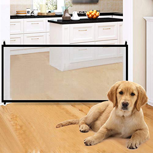 Magic Gate for Dogs,Baby Safety Gates Pet Safety Gate,Portable Folding Safe Guard Install Anywhe ...